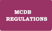 MCDB Regulations